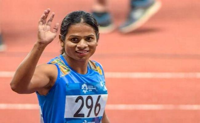 Dutee Chand Won Gold Medal National Athletic Championship - Sakshi