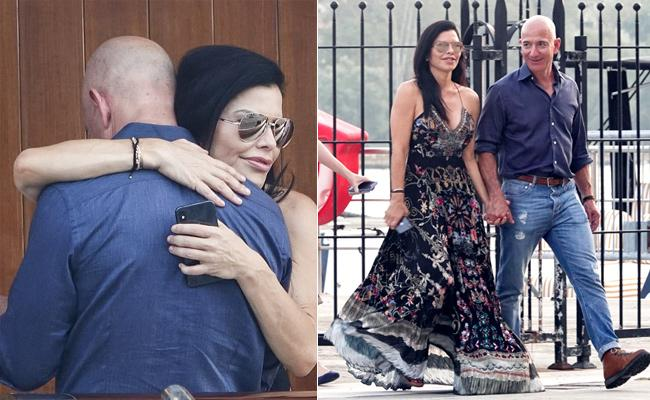 Jeff Bezos and Lauren Sanchez Public Display Of Affection - Sakshi