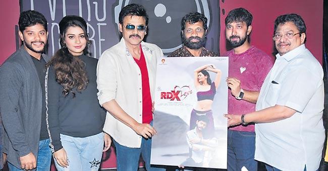 Venkatesh Launch Payal Rajput RDX Love Movie First Look - Sakshi
