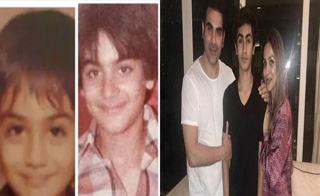 Malaika Arora Shares Arbaaz Khan Throwback Pic To Prove Son Arhaan Is Xerox Copy - Sakshi