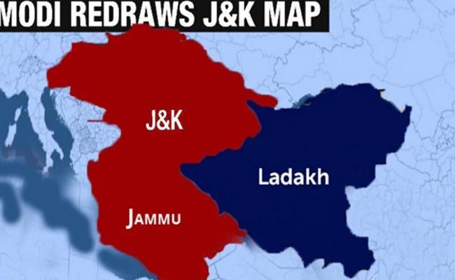 Jammu And Kashmir, Ladakh Redrawn Map - Sakshi
