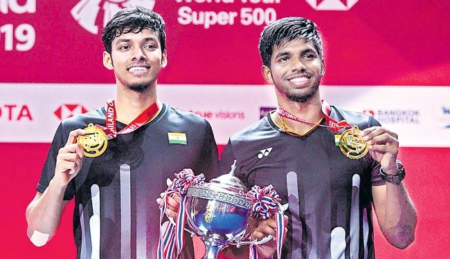 Satwiksairaj Rankireddy-Chirag Shetty Wins Mens Doubles title - Sakshi