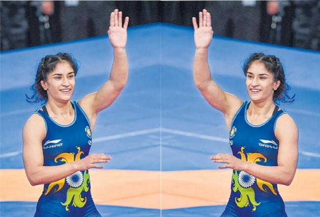 Vinesh Phogat creates golden hat-trick, wins Polish Open - Sakshi