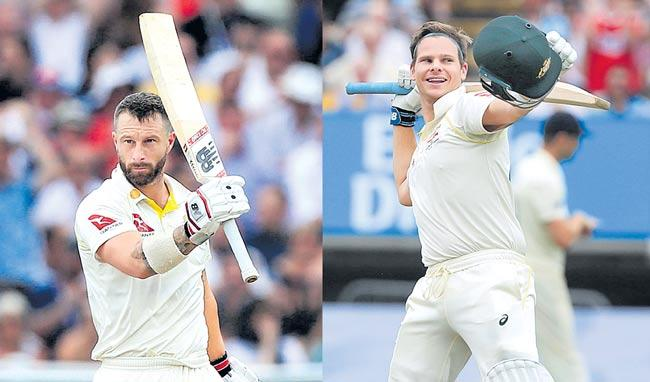 Smith, Wade tons leave Aussies eyeing 1-0 Ashes lead - Sakshi