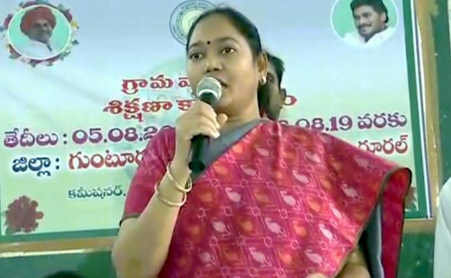Minister Sucharita Started Training Classes For Village Volunteers - Sakshi