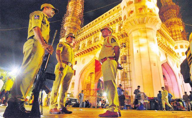 High Alert in Hyderabad on Article 370 Declaration - Sakshi