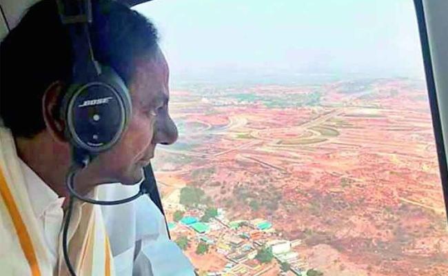 CM KCR Reached Medigadda Barrage - Sakshi