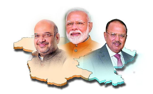 Modi And Amit Shah Master Plan On Kashmir ALso Ajit Doval - Sakshi