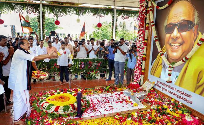 DMK Takes Big Peace rally in chennai - Sakshi