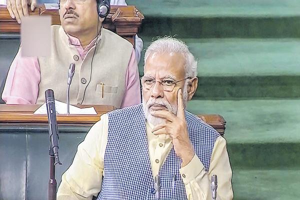 Narendra Modi Comments About Parliament approves Jammu and Kashmir Reorganization Bill - Sakshi