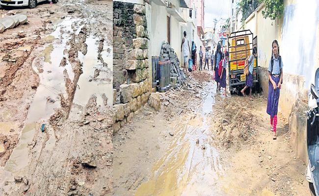 People Suffering With roads in Medchal - Sakshi