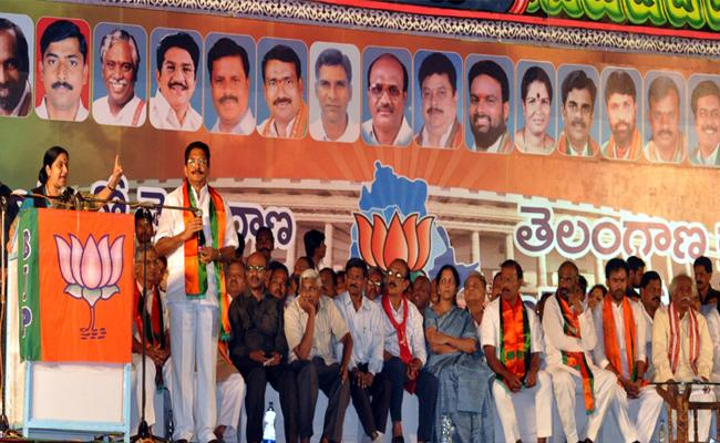 Sushma Swaraj Association With Nalgonda Town - Sakshi