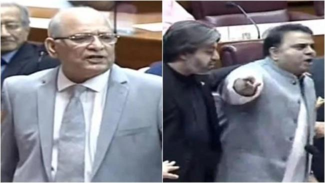 Senator and minister have a nasty fight in Pakistan Parliament - Sakshi