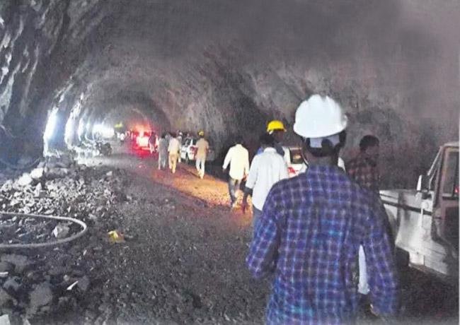 Palamuru Rangareddy Tunnel Blasting At Nagar Kurnool - Sakshi