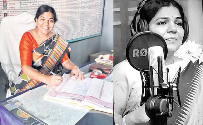 Singer Saradha Head master Special Story - Sakshi