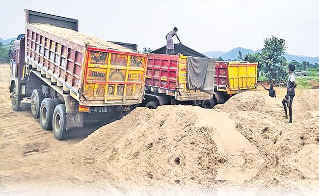 One Ton of sand Cost is 375 in Andhra Pradesh - Sakshi