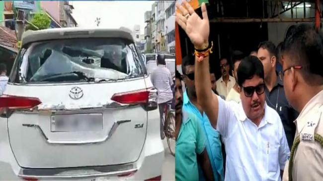 Tmc Workers Ransacked Bjp Mps Vehicle In West Bengal - Sakshi