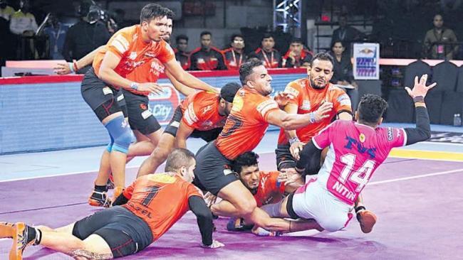 U Mumba a massive win over Jaipur Pink Panthers - Sakshi