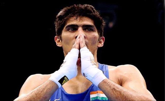 Vijender Singh Plans To Fight In Amateur Circuit - Sakshi