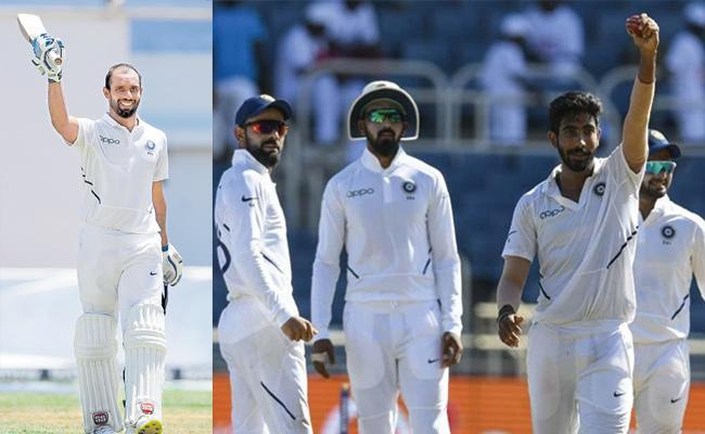 Vihari Century And Bumrah Rocks With Hat Trick In 2nd Test West Indies - Sakshi