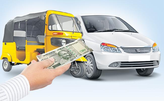 Issued the policies for 10 thousand financial aid to Auto and Cab Drivers - Sakshi