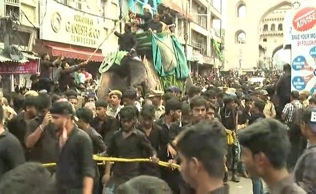 Muharram Rally Begins In Old City Hyderabad - Sakshi