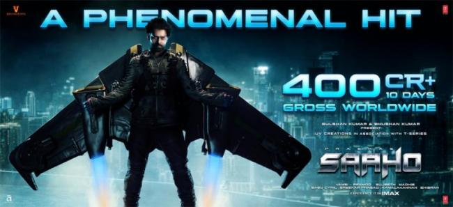 Prabhas Saaho Crosses 400 Cr at Box Office Worldwide - Sakshi