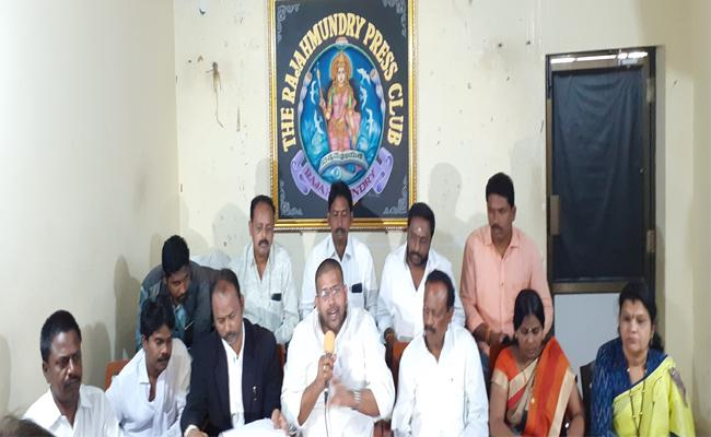 YSRCP MLA Jakkampudi Raja Talks In Press Meet Over Allegation On Land Occupation - Sakshi