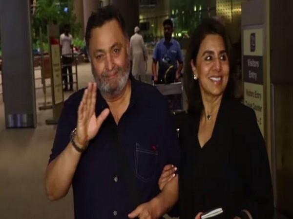 Rishi Kapoor Returns To India From New York After Cancer Treatment - Sakshi