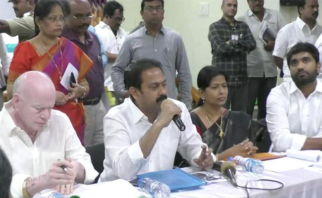 AP Ministers Review On Water Grid Projects - Sakshi