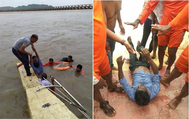 Young Man Drowns In Prakasam Barrage During Ganesh Immersion - Sakshi