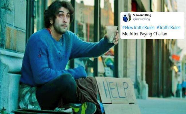 Twitter Memes On Trafic Fines - Sakshi