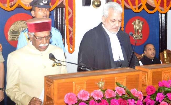 Bandaru Dattatreya Takes Oath As Himachal Pradesh Governor - Sakshi