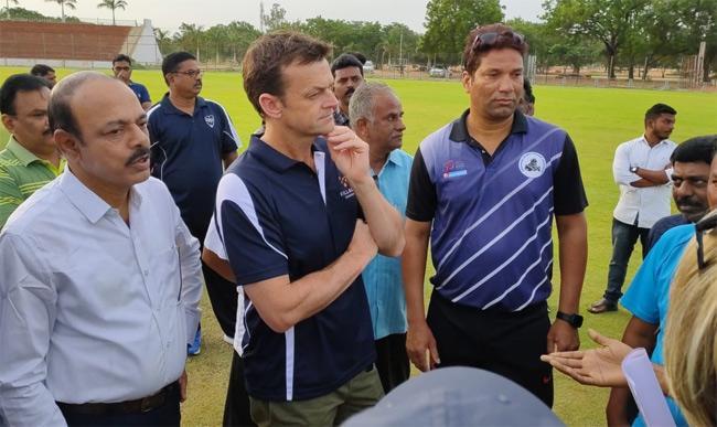 Adam Gilchrist Visit Anantapur Cricket Stadium - Sakshi