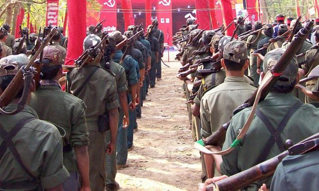Maoist Banners Appeared In G Madugula Over Article 370 Scrap - Sakshi