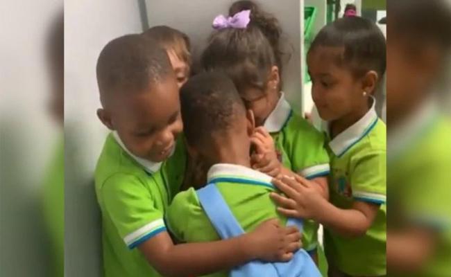 Boy Gets Huge Hugs After Surviving Hurricane Dorian - Sakshi