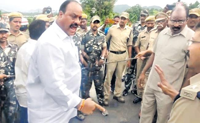 TDP Leader Controversial Comments On Dalit And Scolds IPS Officer - Sakshi