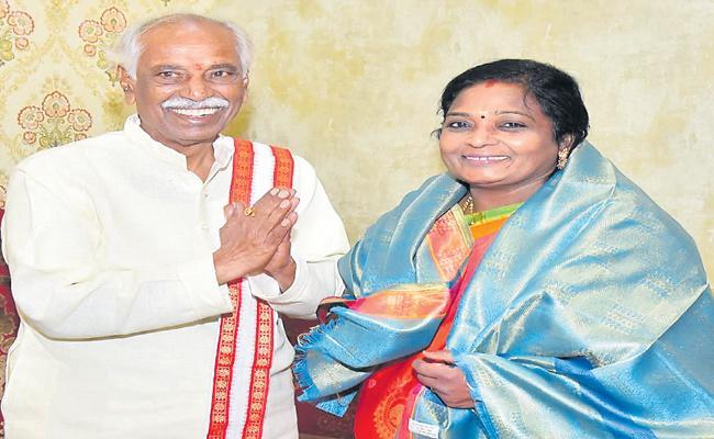 Bandaru Dattatreya Meets Tamilisai Soundararajan - Sakshi