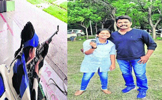 Special Story On Khammam Based Riffle Shooter Kondapalli Shreya Reddy - Sakshi