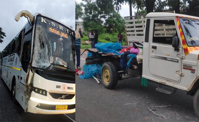 Two Death in Volvo Bus Accident Chittoor - Sakshi