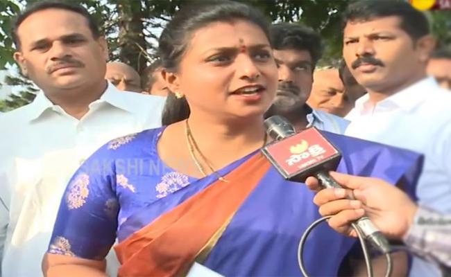 RK Roja Slams Chandrababu Naidu Over Palnadu Politics - Sakshi