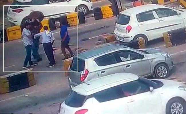 Two Men Attack On Toll Booth Employee In Haryana On NH 9 - Sakshi