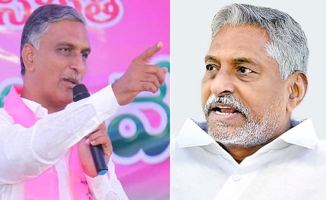 Congress MLC Jeevan Reddy Minister Harish Rao Altercation In Legislative Council - Sakshi