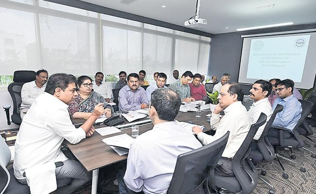 Minister KTR Review Over IT Department - Sakshi