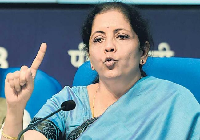 Nirmala Sitharaman announces Rs 10,000cr fund for housing projects - Sakshi