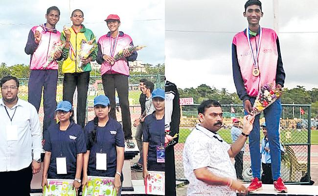 Pranoy Gets Gold Medal In High Jump - Sakshi