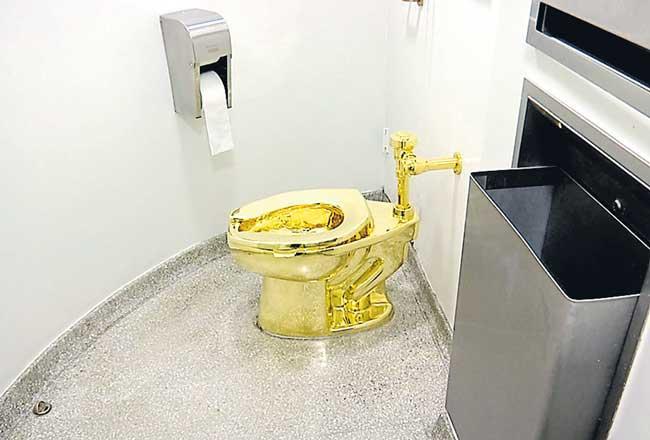 Solid gold toilet stolen from Blenheim Palace - Sakshi