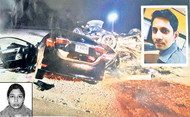 Huge road accident in Dubai - Sakshi