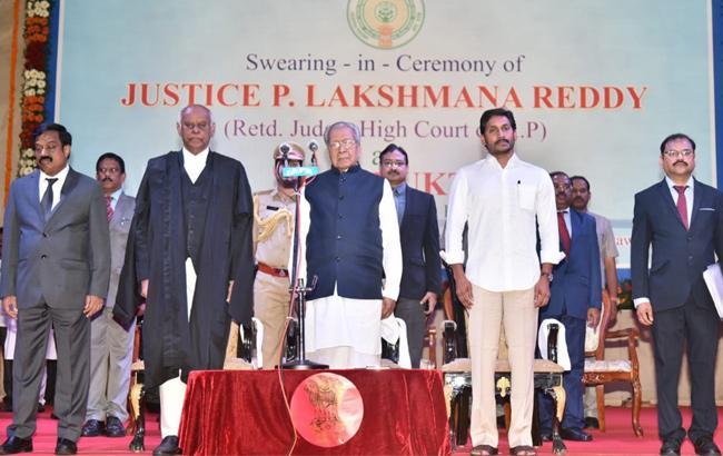 Justice Laxman Reddy Take Oath As Andhra Pradesh LokaYukta - Sakshi