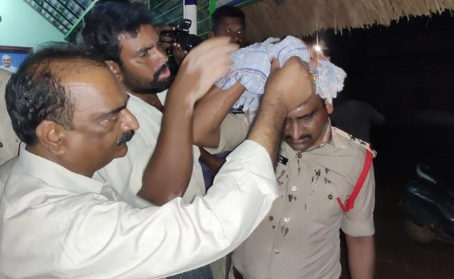 TDP Leaders Attack on YSRCP Workers in  - Sakshi